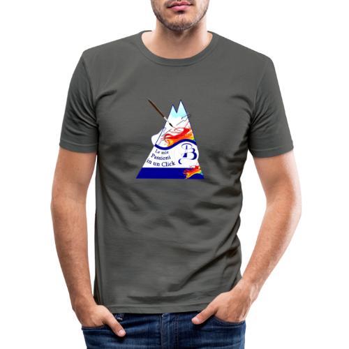 Logo colori - Maglietta aderente da uomo