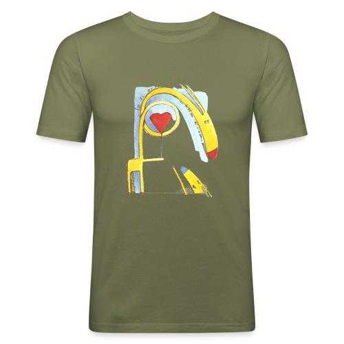 Giraffa innamorata - Maglietta aderente da uomo
