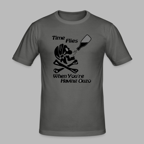 Time Flies Ouzs Shirt - Männer Slim Fit T-Shirt