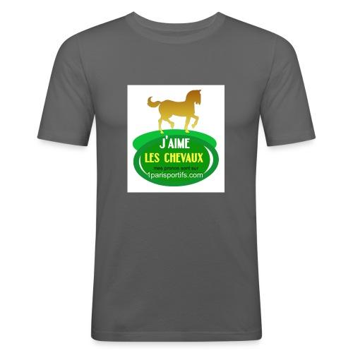 logo1parisportifs - T-shirt près du corps Homme