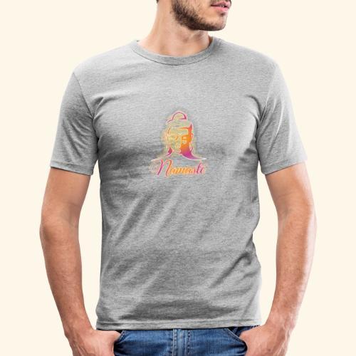 Buddha - Namasté - Männer Slim Fit T-Shirt