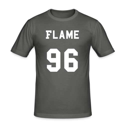 maglietta_flame_96 - Maglietta aderente da uomo