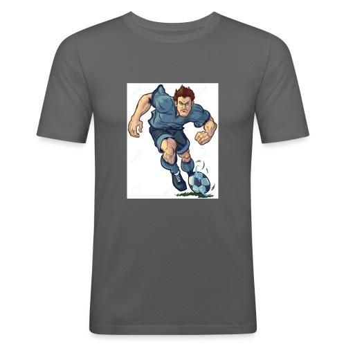 41982995-Vector-de-dibujos-animados-ilustraci-n-de - Camiseta ajustada hombre