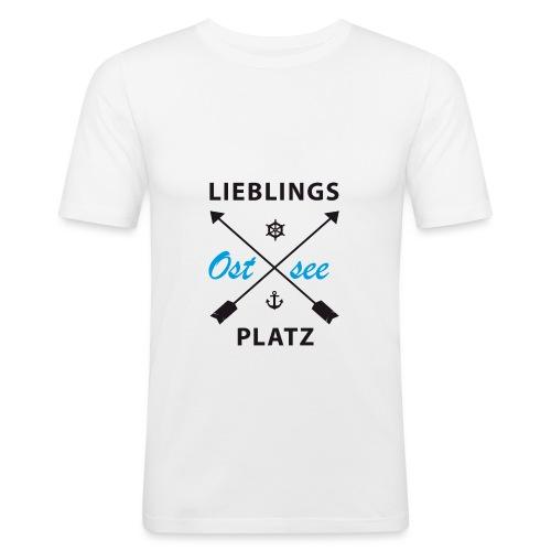 Lieblingsplatz Ostsee - Männer Slim Fit T-Shirt