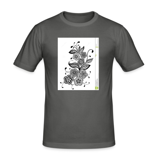 diseño de flores - Camiseta ajustada hombre