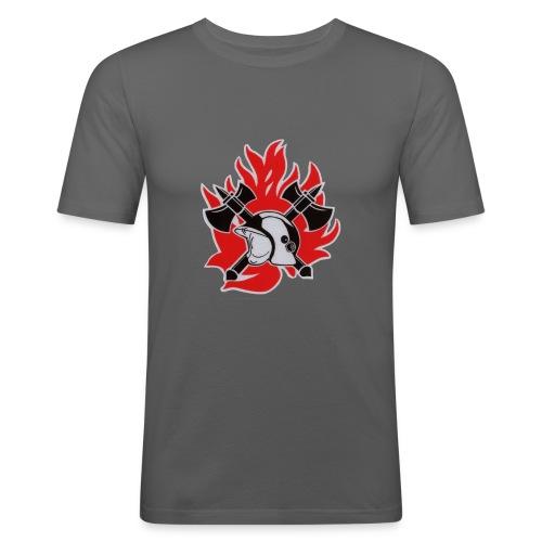 brandweerlogo - Mannen slim fit T-shirt