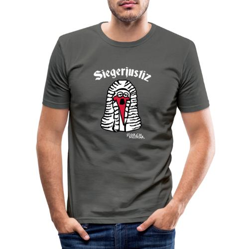 Storch Heinar Siegerjustiz - Männer Slim Fit T-Shirt