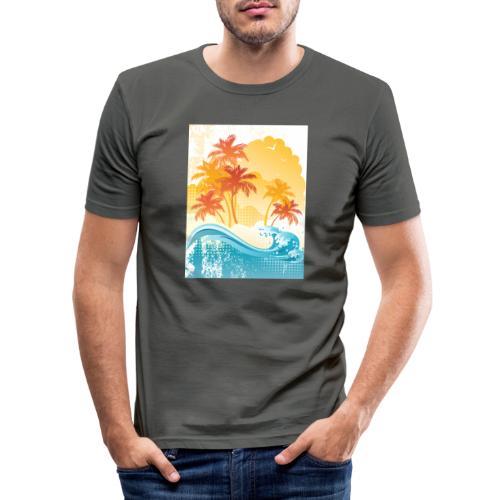 Palm Beach - Men's Slim Fit T-Shirt