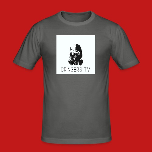 Original Cringers Tv Logga - Slim Fit T-shirt herr