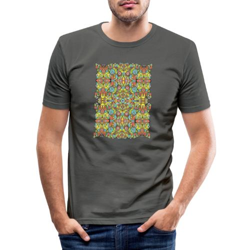 Weird creatures multiplying infinitely - Men's Slim Fit T-Shirt