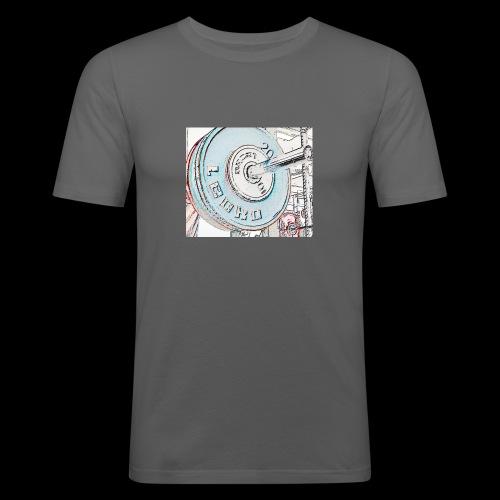 Iron - Miesten tyköistuva t-paita