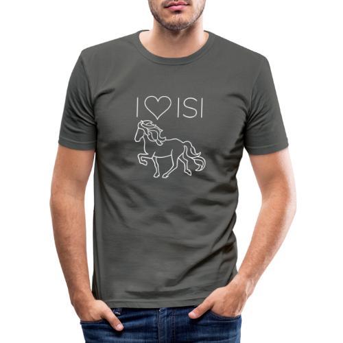 I love Isi, weiß - Männer Slim Fit T-Shirt