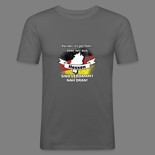 Perfekt Hessen - Männer Slim Fit T-Shirt