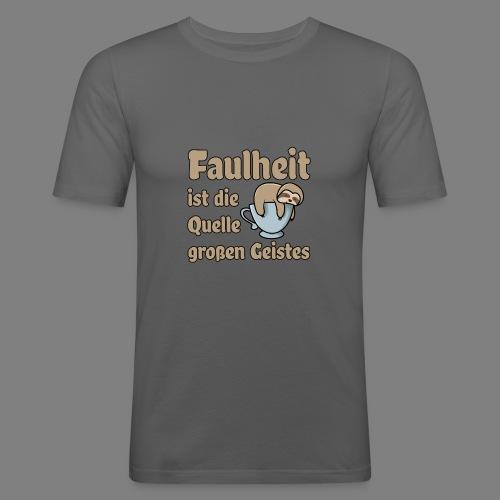 Faulheit - Männer Slim Fit T-Shirt