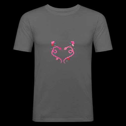 Coeur de serpents - T-shirt près du corps Homme