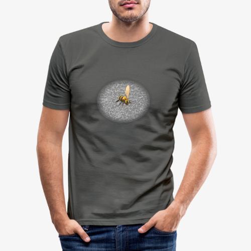 biene mit steienen - Männer Slim Fit T-Shirt