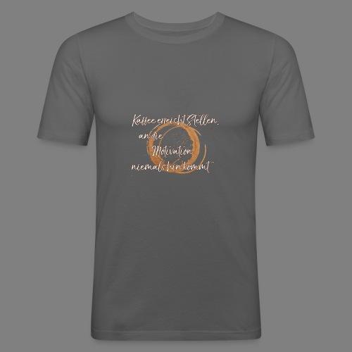 Kaffee - Männer Slim Fit T-Shirt