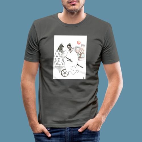 Samurai copia jpg - Maglietta aderente da uomo