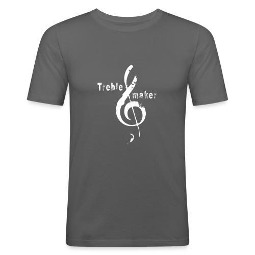 treble_maker-white - Men's Slim Fit T-Shirt