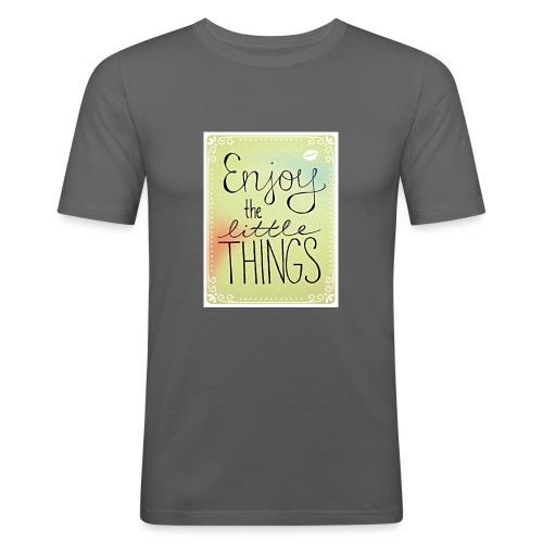 LITTLE_THINGS - Mannen slim fit T-shirt