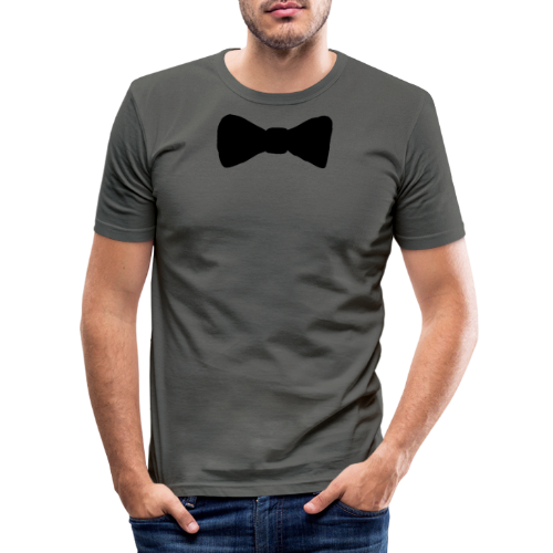 Black Bow tie - Slim Fit T-shirt herr