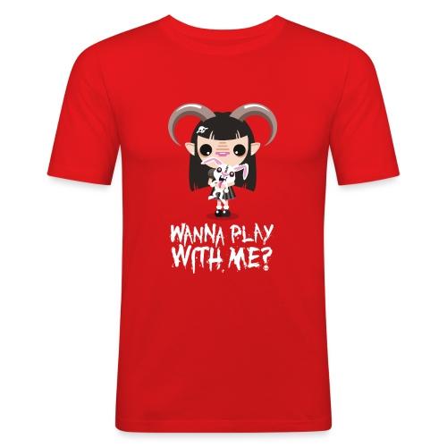 Wanna play with me? - Maglietta aderente da uomo