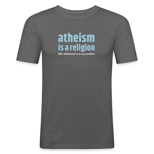 atheism-zweifarbe - Männer Slim Fit T-Shirt