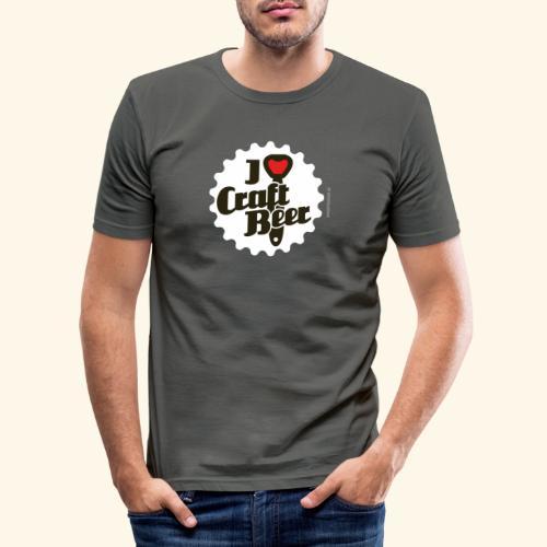 Craft Beer T-Shirt Design I Love Craft Beer - Männer Slim Fit T-Shirt