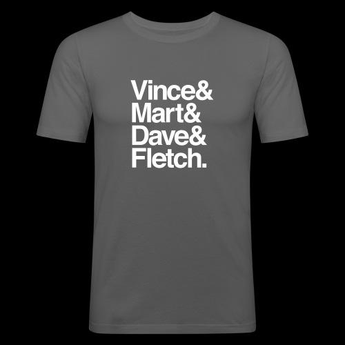 DM Depech Mode Original Lineup - Slim Fit T-shirt herr