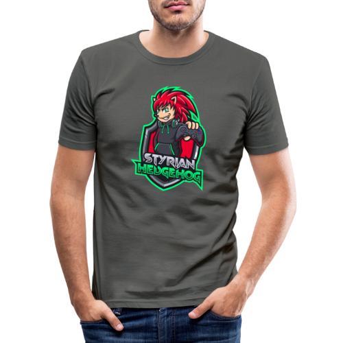 styrian hedgehog Logo - Männer Slim Fit T-Shirt