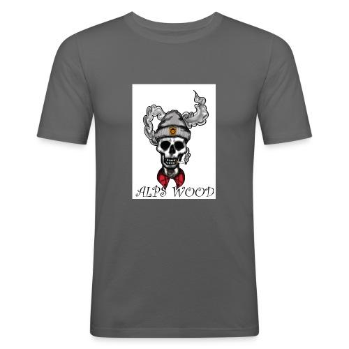 Alps Wood Lumberjack mit Logo - Männer Slim Fit T-Shirt
