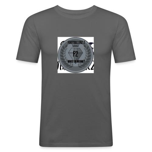 F2FOOTBALLERZ Z youtube kanaal T shirt - Mannen slim fit T-shirt