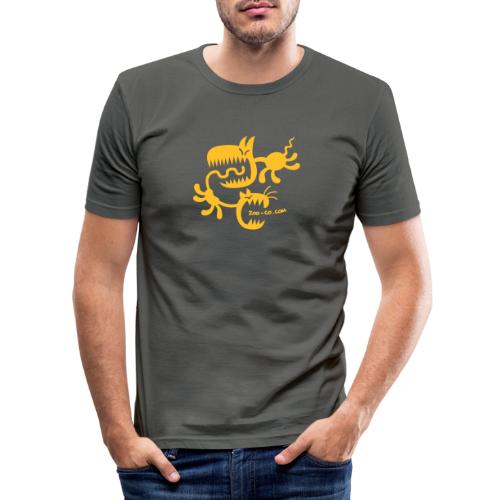 Spooky Cat and Dog - Men's Slim Fit T-Shirt