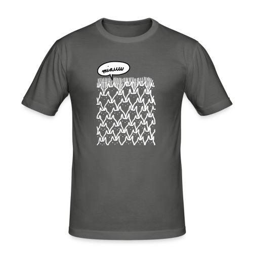 Miauw - Mannen slim fit T-shirt