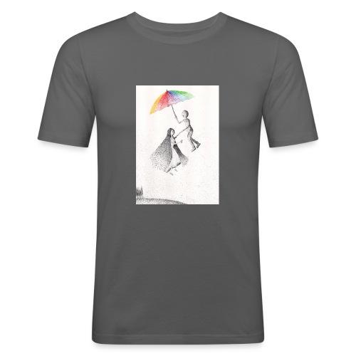 Nel vuoto per mano - Maglietta aderente da uomo