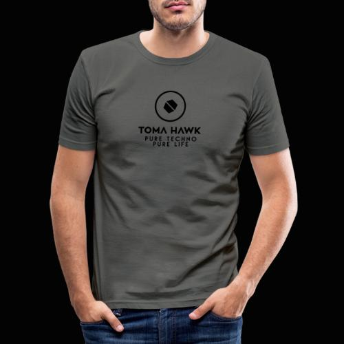 Toma Hawk - Pure Techno - Pure Life Black - Männer Slim Fit T-Shirt