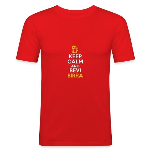 KEEP CALM AND BEVI BIRRA - Maglietta aderente da uomo