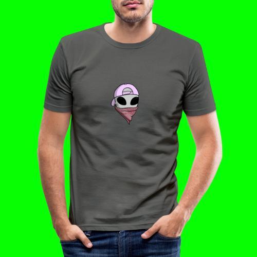 gangsta alien logo - Maglietta aderente da uomo