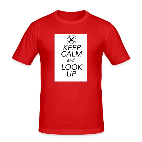 Keep Calm and Look Up - Mannen slim fit T-shirt