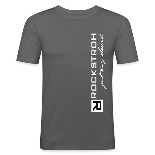 logo ronny rockstroh justmysound - Männer Slim Fit T-Shirt