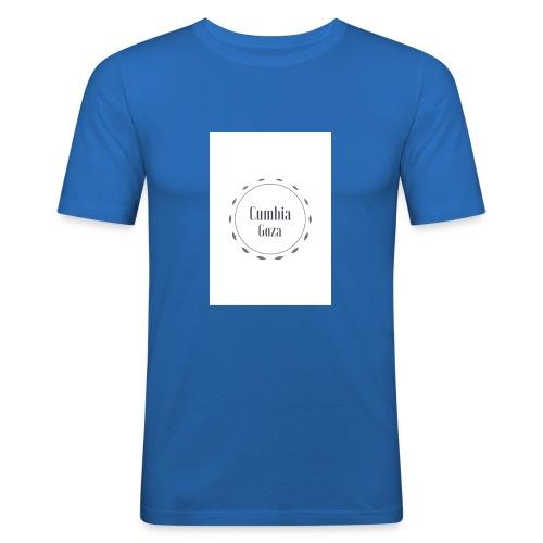 cumbia goza - Mannen slim fit T-shirt
