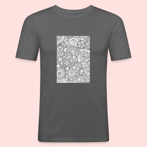 Mandela hoesje - Mannen slim fit T-shirt