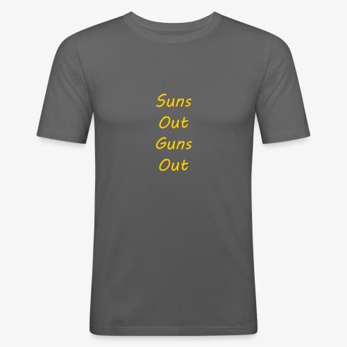 Suns Out Guns Out - Men's Slim Fit T-Shirt