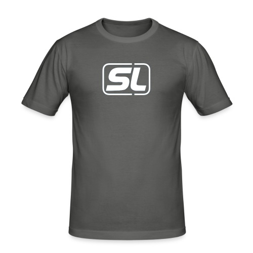 SL BWihte - Männer Slim Fit T-Shirt