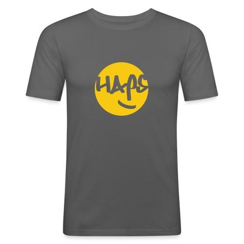 HAPS Yellow Logo - Men's Slim Fit T-Shirt