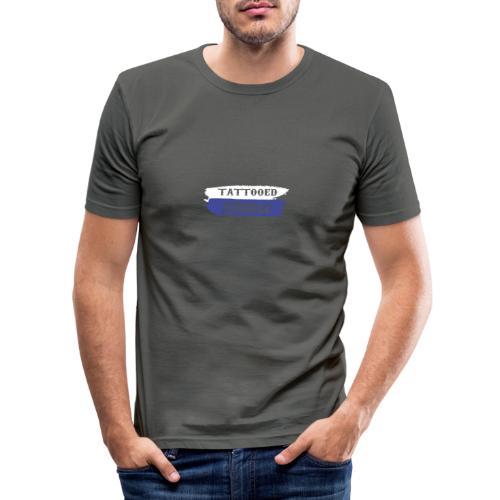 Tattooed Asshole 1 - Männer Slim Fit T-Shirt
