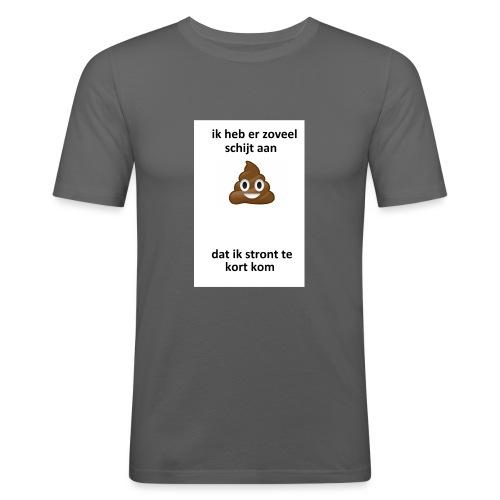Ik heb er schijt aan - Mannen slim fit T-shirt