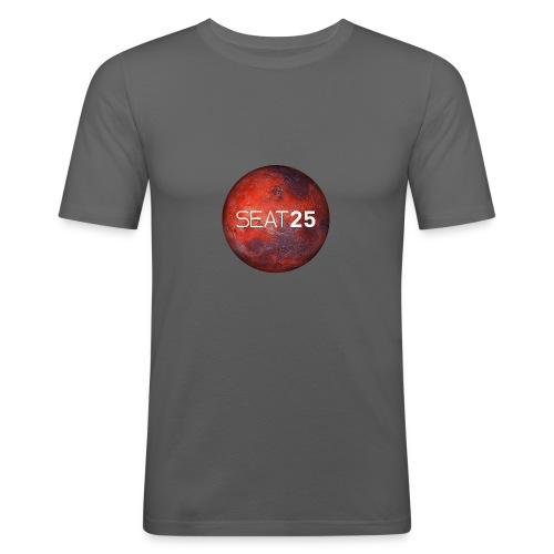 Mars and Logo - Men's Slim Fit T-Shirt