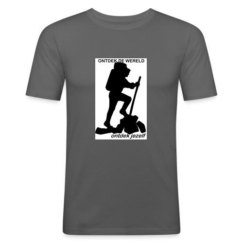 Ontdek de wereld, Backpacker - slim fit T-shirt