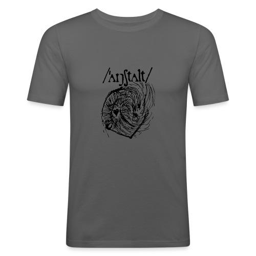 logo mit wesen (schwarz) - Männer Slim Fit T-Shirt